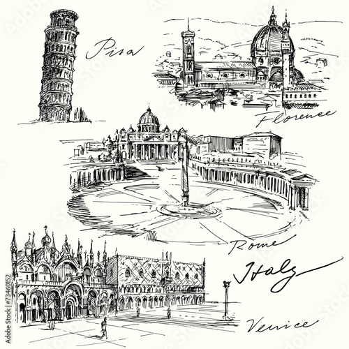 Italy - hand drawn collection - 73460152