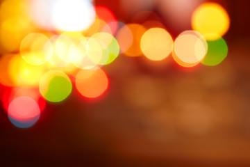 Abstract blurred lights christmas background