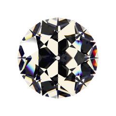 Shiny white diamond