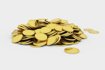 Golden coins pile