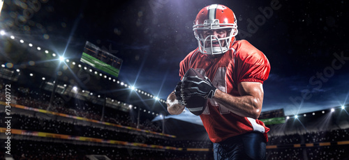 American football sportsman player in stadium - 73460772