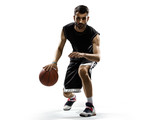 Fototapeta Basketball player in action isolated on white