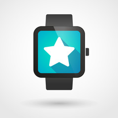 Smart watch displaying a star