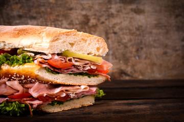 Big juicy sandwich