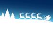 Christmas Sleigh Blue Forest