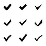 Vector black confirm icon set