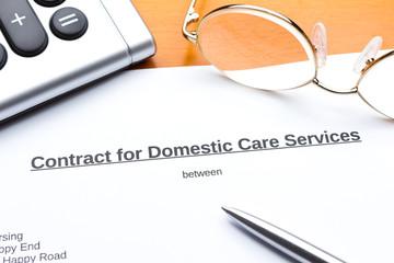 Contract domestic nursing services