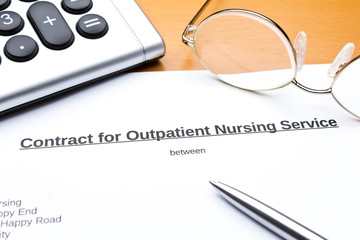 Contract outpatient care service calculator