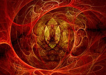 Dark demon fractal art