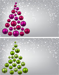 Christmas tree with colorful christmas balls.
