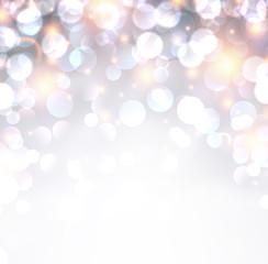 Silver shiny christmas background.