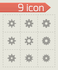 Vector gear icon set