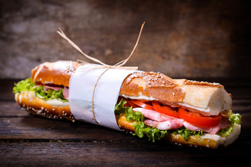 Long gourmet sandwich