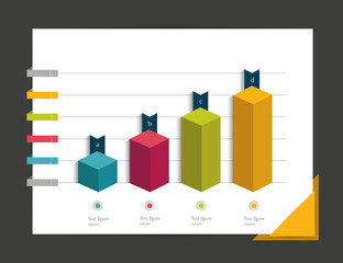 3D graph for infographic.