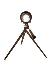 childs silver toy telescope