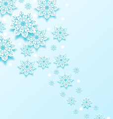 Christmas cold background with snowflakes