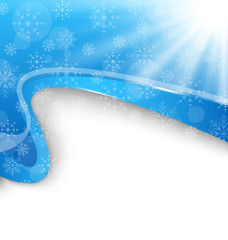 Cute winter brochure with snowflakes
