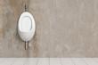 Leinwanddruck Bild - Sauberes Urinal im WC