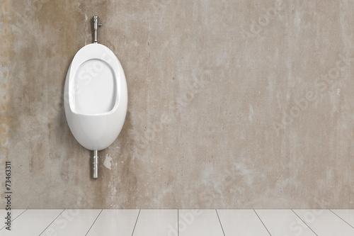 Leinwanddruck Bild Sauberes Urinal im WC