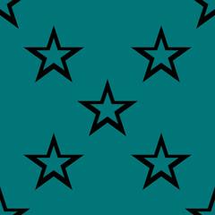 star web icon. flat design. Seamless gray pattern.