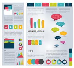 Big set of flat infographic elements.