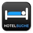 Schwarzer Button: Hotelsuche