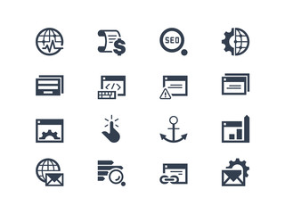 Seo. Search engine optimization icons