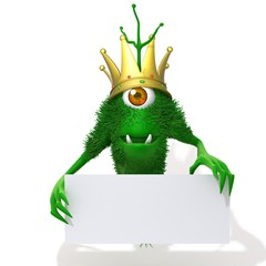 Cute Monster King with white panel