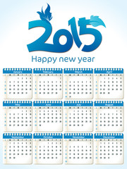 abstract blue new year calender