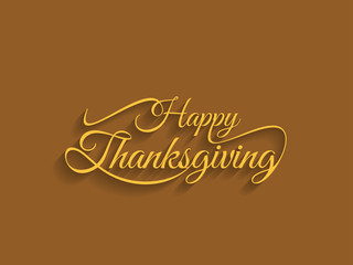 beautiful text design of happy thanksgiving