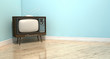Old Classic Television In A Room - 73467161