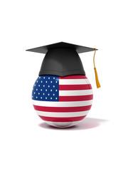 3D Ball - graduation cap