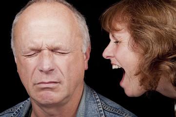 Woman Shouting At Man