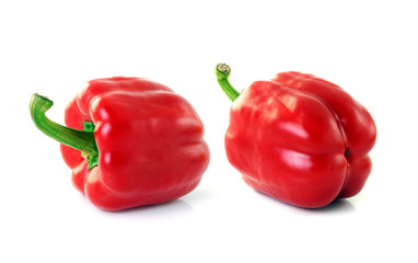 red sweet peper on white background