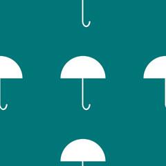 Umbrella web icon. flat design. Seamless gray pattern.