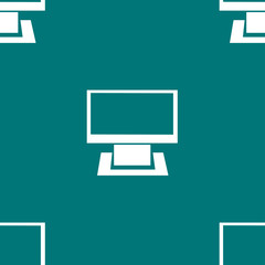Computer web icon. flat design. Seamless gray pattern.