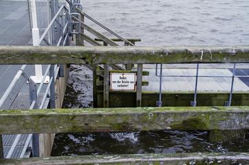 Seebrücke Zaun
