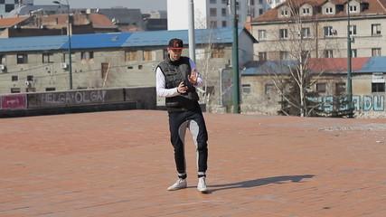Hip Hop Dancer dancing at the street