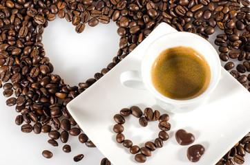 Liebevoll angerichteter Espresso :)