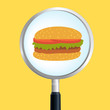 Burger magnify - 73469789