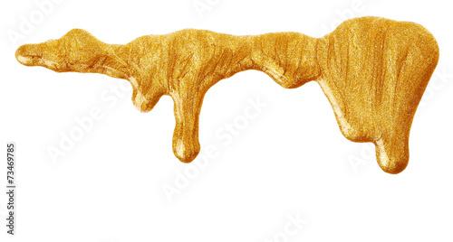 Golden nail polish - 73469785
