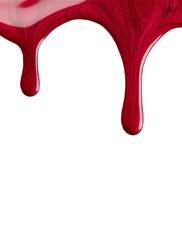Blot of red nail polish