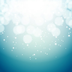 blue background with bokeh effects and stars