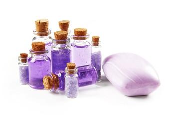 Bottles with shower gel