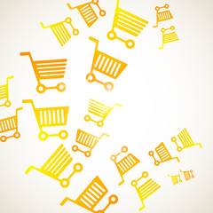 abstract background: trolley