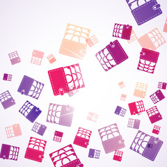 abstract background: purse