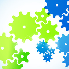 abstract background: cogwheel