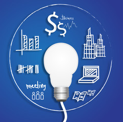 light bulb business circle vector
