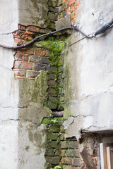 Damp and old walls of the building to be restored