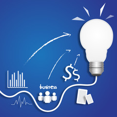 light bulb business idea think vector